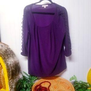 Women's Plus Size 2X G Collection Purple Top